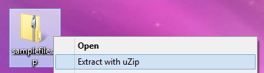 Extract with uZip